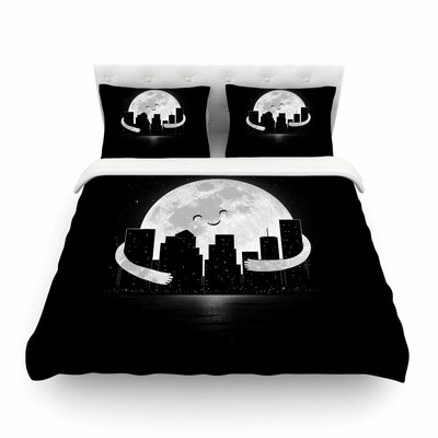 Goodnight by Digital Carbine Featherweight Duvet Cover Size: Twin