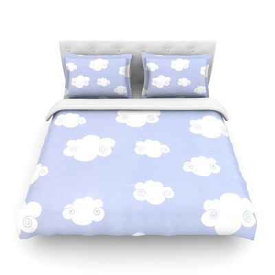Happy Clouds by Heidi Jennings Featherweight Duvet Cover Size: Twin