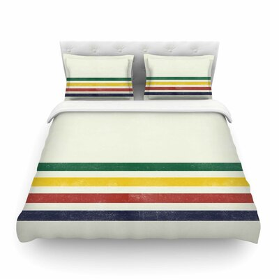 Eagle Scout Stripes by Draper Featherweight Duvet Cover Size: King