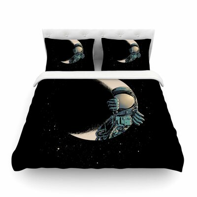 Crescent Moon Illustration by Digital Carbine Featherweight Duvet Cover Size: Full/Queen