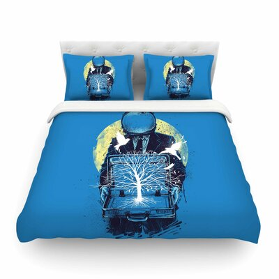 A New Life Illustration by Digital Carbine Featherweight Duvet Cover Size: Twin