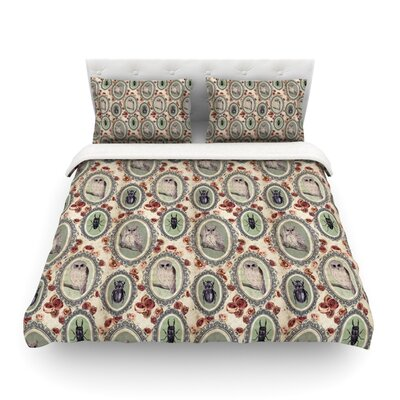 Camafeu Beetles by DLKG Design Featherweight Duvet Cover Size: Full/Queen