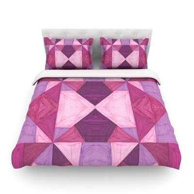 Angles Geometric by Empire Ruh Featherweight Duvet Cover Size: King