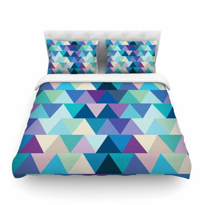 Crystal Geometric by Draper Featherweight Duvet Cover Size: Full/Queen