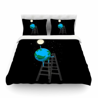Reach the Moon Illustration by Digital Carbine Featherweight Duvet Cover Size: Twin
