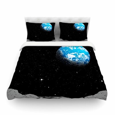 From The Moon Geological by Digital Carbine Featherweight Duvet Cover Size: Full/Queen