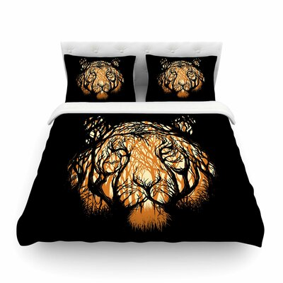 Hidden Hunter Illustration by Digital Carbine Featherweight Duvet Cover Size: King