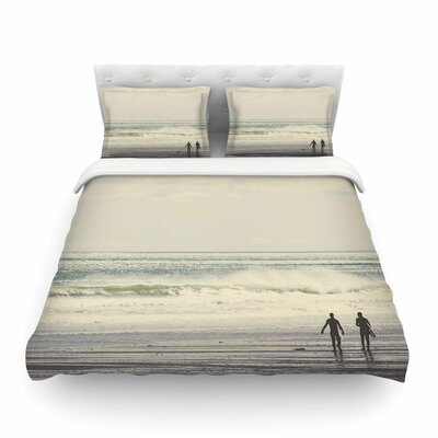 Sun and Surf by Debbra Obertanec Featherweight Duvet Cover Size: King