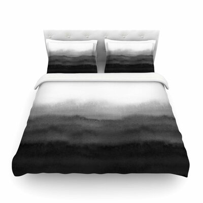 Ombre Ink Wash by Draper Featherweight Duvet Cover Size: Twin
