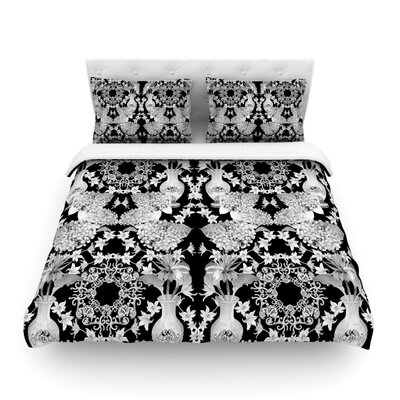 Versailles by DLKG Design Featherweight Duvet Cover Size: Full/Queen, Color: Black