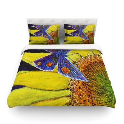 Butterfly by Danny Ivan Featherweight Duvet Cover Size: King