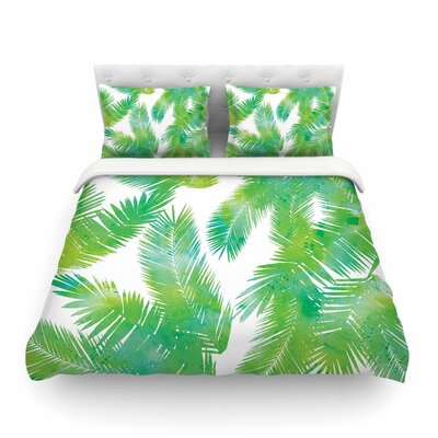 Tropic Summer Nature by Draper Featherweight Duvet Cover Size: King