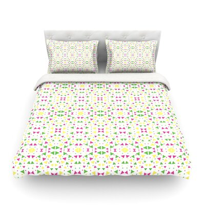 Neon Triangles by Empire Ruhl Featherweight Duvet Cover Size: Full/Queen