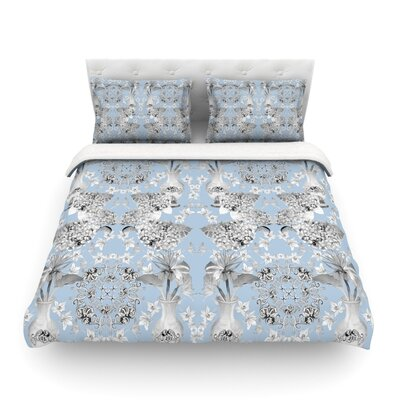 Versailles by DLKG Design Featherweight Duvet Cover Size: Full/Queen, Color: Blue