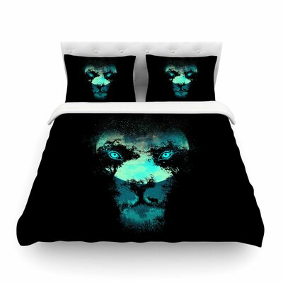 Silence Hunter Animals by Digital Carbine Featherweight Duvet Cover Size: King