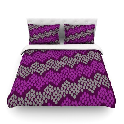 Pattern Chevron by Deepti Munshaw Featherweight Duvet Cover Size: Full/Queen