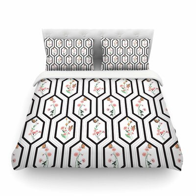 Eden by DLKG Design Featherweight Duvet Cover Size: Full/Queen