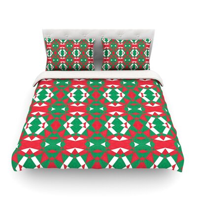 Christmas Geo by Empire Ruh Featherweight Duvet Cover Size: Full/Queen