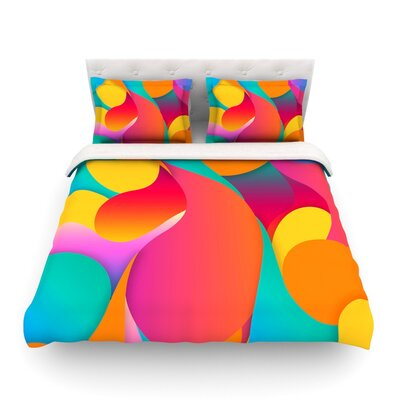 Still Life Warm Abstract by Danny Ivan Featherweight Duvet Cover Size: Twin