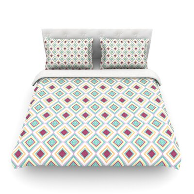 Hip Diamonds by Empire Ruhl Featherweight Duvet Cover Size: Full/Queen