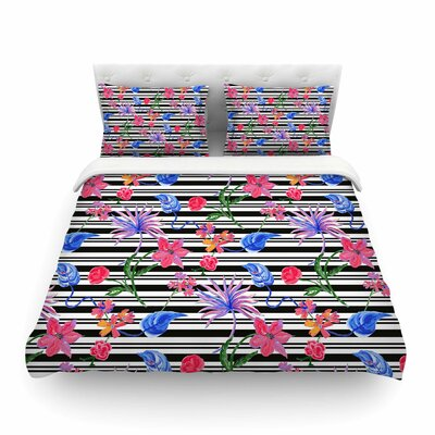 Flower Party by DLKG Design Featherweight Duvet Cover UNFP6036 33463907