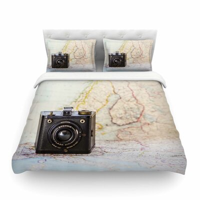 Travel Time by Debbra Obertanec Featherweight Duvet Cover Size: Full/Queen