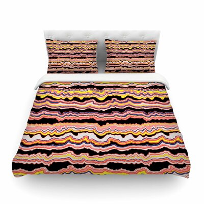 Expressive Lines Illustration by DLKG Design Featherweight Duvet Cover Size: Full/Queen