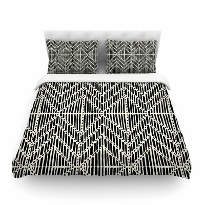 Tribal Drawings Chevron by DLKG Design Featherweight Duvet Cover Size: Twin