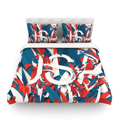 USA World Cup by Danny Ivan Featherweight Duvet Cover Size: Full/Queen