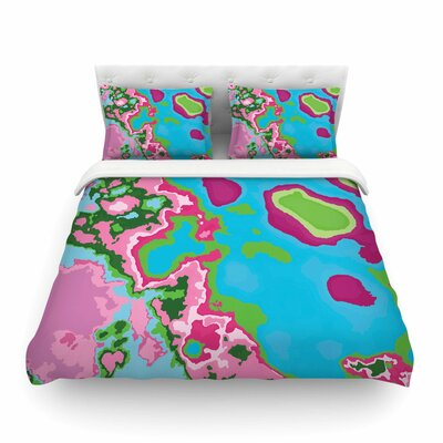 Spring Agate Abstract by Empire Ruh Featherweight Duvet Cover Size: Full/Queen