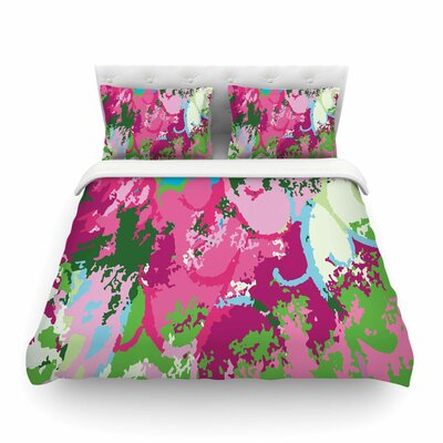 Spring Frolic Abstract by Empire Ruhl Featherweight Duvet Cover Size: Full/Queen