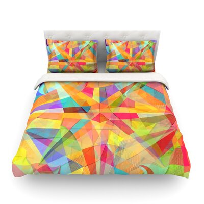 Star Geometric by Danny Ivan Featherweight Duvet Cover Size: King
