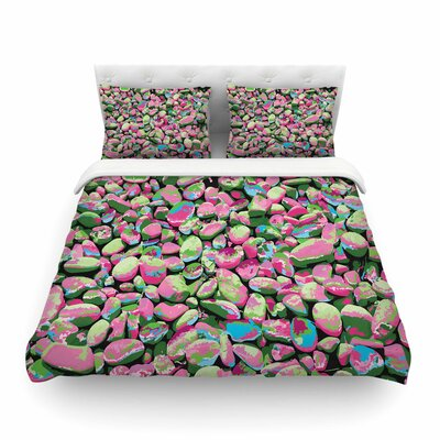 Rocks Spring Abstract Nature by Empire Ruhl Featherweight Duvet Cover Size: Full/Queen