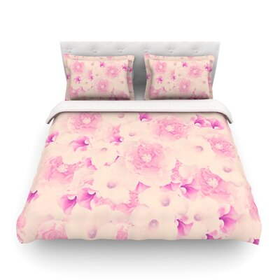 Blush Bouquet Roses by Deepti Munshaw Featherweight Duvet Cover Size: Full/Queen