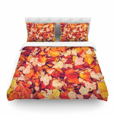Scarlet by Debbra Obertanec Featherweight Duvet Cover Size: Twin