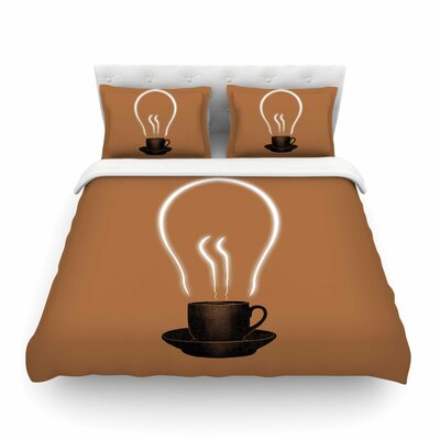 The Power of Coffee Food by Digital Carbine Featherweight Duvet Cover Size: Full/Queen
