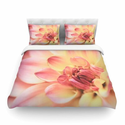 Pastels of Spring Floral by Debbra Obertanec Featherweight Duvet Cover Size: Full/Queen