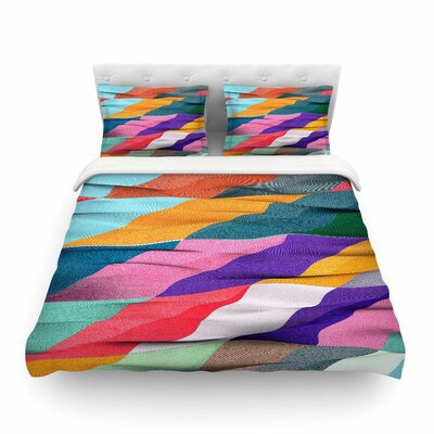 Timeless Texture Stripes by Danny Ivan Featherweight Duvet Cover Size: Full/Queen