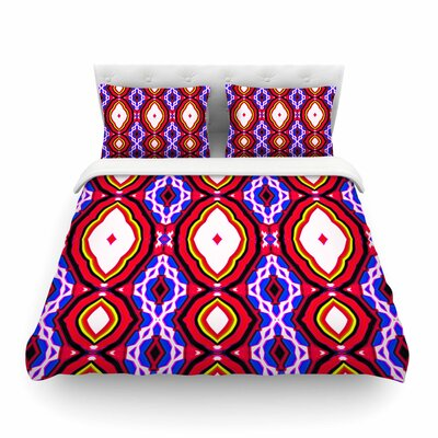 Inspired By Psychedelic Art by Dawid Roc Featherweight Duvet Cover Size: Full/Queen, Color: Red