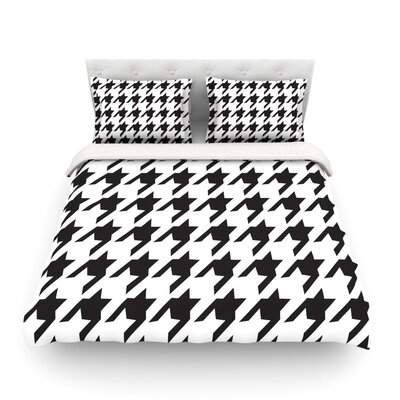 Spacey Houndstooth by Empire Ruhl Featherweight Duvet Cover Size: Twin