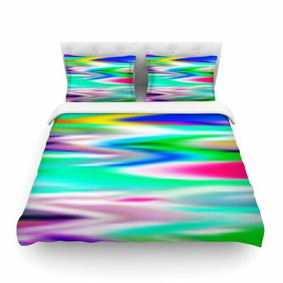 Lively Atmosphere Abstract by Dawid Roc Featherweight Duvet Cover Size: Twin