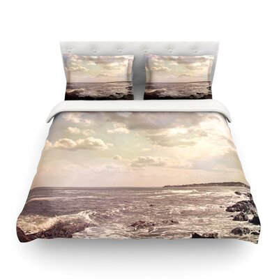 Rocky Coast Sea View by Debbra Obertanec Featherweight Duvet Cover Size: Full/Queen