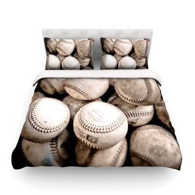 On the Mound Baseball by Debbra Obertanec Featherweight Duvet Cover Size: Twin
