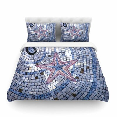 Mosaic Starfish by Debbra Obertanec Featherweight Duvet Cover Size: Twin