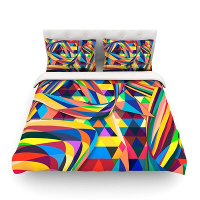 The Optimist Geometric by Danny Ivan Featherweight Duvet Cover Size: King