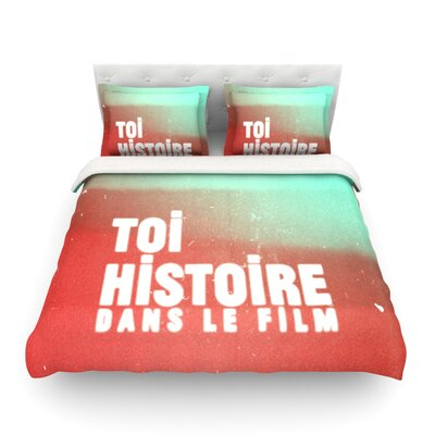 Toi Histoire by Danny Ivan Featherweight Duvet Cover Size: Full/Queen