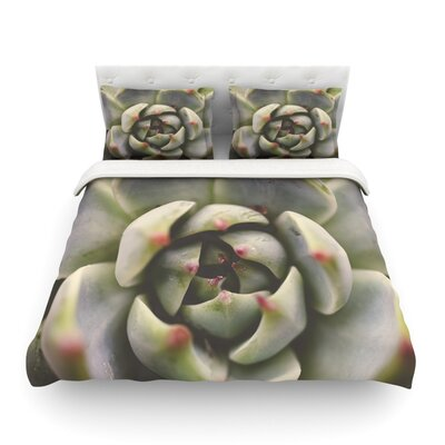 Desert Succulent by Debbra Obertanec Featherweight Duvet Cover Size: Twin