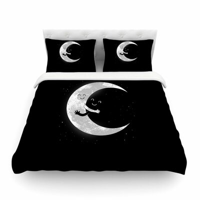 Moon Hug by Digital Carbine Featherweight Duvet Cover Size: King