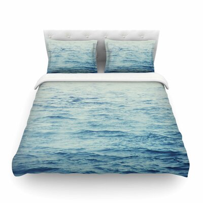 Foggy Morning Ocean by Debbra Obertanec Featherweight Duvet Cover Size: Twin