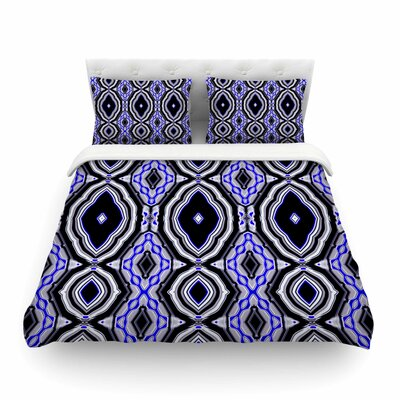 Inspired By Psychedelic Art by Dawid Roc Featherweight Duvet Cover Size: Full/Queen, Color: Purple